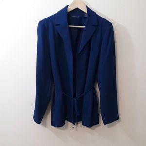 Karen Scott Royal Blue Tie Blazer Jacket Size 12